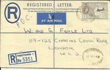Sierra Leone Registered Postal Envelope HG:C7 uprated SG#218 FREETOWN
