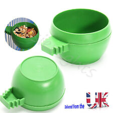 Bird Feeding Bowl Parrot Aviary Cage Water Food Feeder 4.5*3cm Budgies Bowls