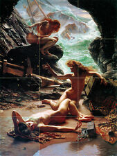Art Edward Poynter Mural Ceramic Tiles Bath Backsplash Nymphs Tile #488