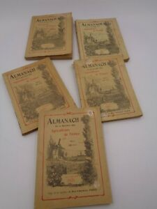 5 Almanache von Der Société Der Bauern De La France 1922-23-24-25 Und 27