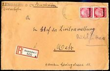 GERMANY LOTHRINGEN TO METZ Registered Front Cover (a Stamp is missing)