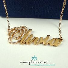 CZ Name Necklace Sterling Silver