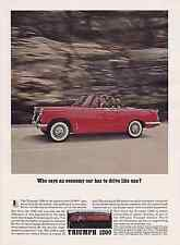 1962 TRIUMPH 1200  ~  NICE ORIGINAL PRINT AD