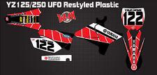 2002 - 2016 YZ125 YZ250 MX UFO Restyled FULL Custom Retro Style Graphics Kit USA