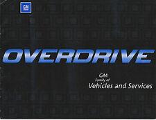 GM Overdrive prospectus USA 2002 brochure Homard h2 CORVETTE GrandAm S 10 Seville