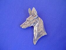 Pewter Pharaoh Hound Pin #54D anubis Sighthound Dog Jewelry by Cindy A. Conter