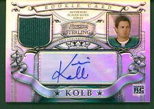 2007 Bowman Sterling Refractors Rookie Jersey Autograph #KK1 Kevin Kolb 50/199