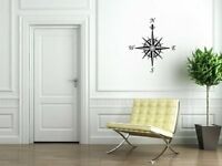 Compass - Nautical vinyl stickers wall decorations mural decal NEW 30cm x 35cm