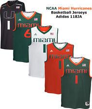 NCAA Miami Hurricanes Mens Basketball Replica Jersey Player Jersey 118JA NEW