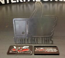 """""""You Like This"""" Hitch Cover - Facebook - 1/8"""" Steel - Tow Towing Reese Custom"""