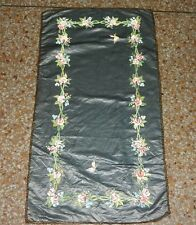 Antique French Hand Painted Silk Wall Hanging Tapestry/Panel 83X45cm (X167)