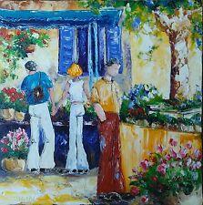 Tableau de Nolac tableau éclat méditerranéen marché aux fleurs peinture
