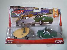 Disney pixar cars 2014 KIMBERLY RIMS+CARINNE CAVVY mattel race fans 1:55 maclama