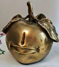 """Les LaLanne (Claude LaLanne) """"Pomme Bouche"""" Vintage Apple Sculpture Reproduction"""