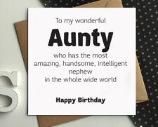 AUNT AUNTIE AUNTY birthday cards from nephew gorgeous funny greetings card bx40