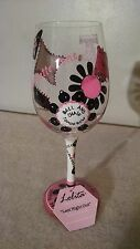 """Lolita  Love My Wine """"Last Night Out"""" Bachelorette Stemware Goblet Hand Painted"""