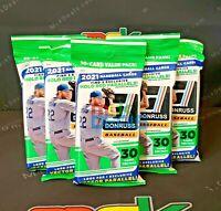 2021 Donruss MLB Baseball Value Fat Pack Brand New Factory Sealed Lot of 5