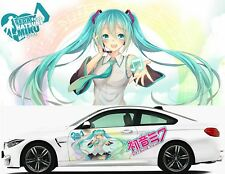 Anime hatsune miku Girl Car Door Graphics Decal Vinyl Sticker Fit any Car
