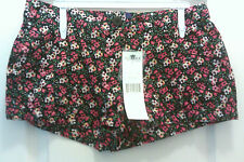 WOW!New With Tags Miley Cyrus BCBG Max Azria Blk/Pink Floral Print Shorts Size 1