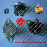 Termostato (1Pz) KSD302X 250V 20A  60ºC NC, bipolar,Manual Reset Thermo