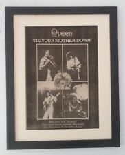 QUEEN*Tie Your Mother Down*1977*RARE*ORIGINAL*POSTER*AD*FRAMED*FAST WORLD SHIP