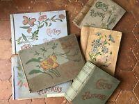 Lotto 6x Album Da Cartoline Antiche Cartolina Vuoto Inizio 1900
