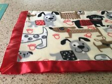 Handmade fleece pet blanket, cute dogs!