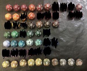 Speckled D12 12 Twelve Sided Die Dice RPG D&D AD&D Numbers
