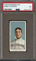 Rare 1909-11 T206 Jimmy Jackson Sovereign 350 Baltimore PSA 5 EX *Only 1 Higher*
