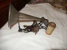 1900 Painted Cast Iron Mermaid Puck Cylinder Phonograph & Horn Working Great