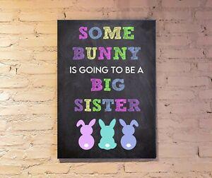 Easter pregnancy announcement print. Big Sister Pregnancy announcement prop