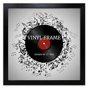 "12"" LP Vinyl Record Frame Square Black Memorabilia Oxford Wall Album Art Display"