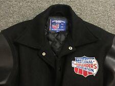 National Cheerleaders Association Champion Wool Blend Leatherette Jacket Sz S