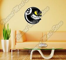 "8 Ball Black Billiard Pool Flame Sport Wall Sticker Room Interior Decor 22""X22"""