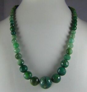 232Cts NATURAL EMERALD SHADED ZAMBIAN BALL BEADS NECKLACE STRAND 16mm - 5mm