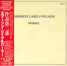 EMERSON LAKE & PALMER WORKS VOL.2 CD MINI LP OBI Emerson Lake & Powell rock new