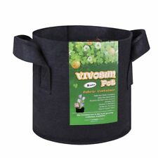 VIVOSUN 5-pack 2 Gallons Heavy Duty Thickened Nonwoven Fabric Pots Grow Bags Wit