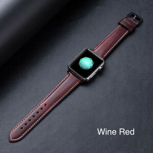 For Apple Watch Band Premium Leather iWatch Strap 38 40 42 44mm Series 6/5/4/3/2