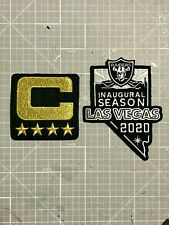 OAKLAND RAIDERS JERSEY 2 PATCHES LV 2020 INAUGURAL & TEAM CAPTAINS COMBO NEW! 🔥