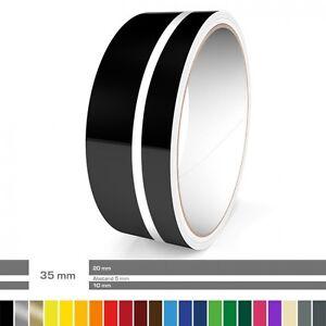 Doppel-Zierstreifen 35 mm ver. Farben für Auto, Motorrad, Wohnmobil, Modellbau