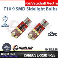 2 x Vauxhall Vectra C 02-08 ICE White LED CANBUS 501 Side Light Blub 9 SMD Xenon