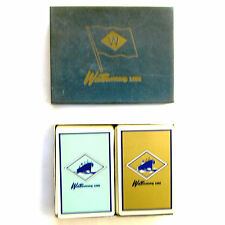 Vtg Waterman Line Steamer Brown & Bigelow Double Deck Playing Cards Redislip