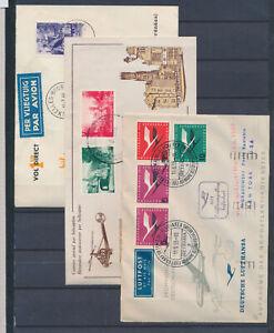 XC66898 Belgium 1955 airmail special flight covers used