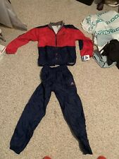 New Deadstock 90s Adidas Track Suit Set Kids Size L Vtg