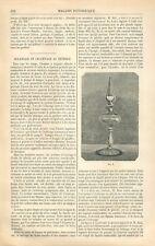 Eclairage Lampe & Chauffage au Pétrole  GRAVURE ANTIQUE OLD PRINT 1871