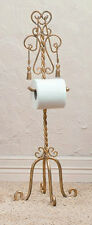 BATHROOM ACCESSORIES - BUCKINGHAM PALACE STANDING TOILET PAPER HOLDER - GOLD