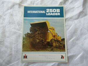 1966 IH International loader brochure for model 250B loader