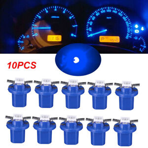 10 x Brightest T5 B8.5D 5050 1SMD LED Light Bulbs Blue Dashboard Lamps Universal