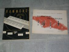 Hammond Organ M-100 Spinet Owners Playing Guide And Harmonic Drawbars Manual