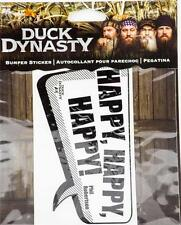 New A&E Duck Dynasty Bumper Sicker Happy Happy Happy Decal Car Authentic New
